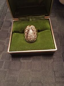Vintage wedding ring and 24k gold cross