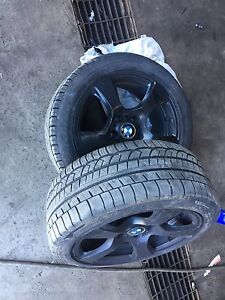 Bmw ome, 17 inch rims on runflats! BALANCED!