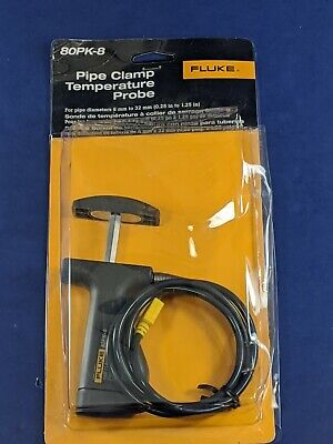 Brand New Fluke 80pk-8 Pipe Clamp Temperature Probe