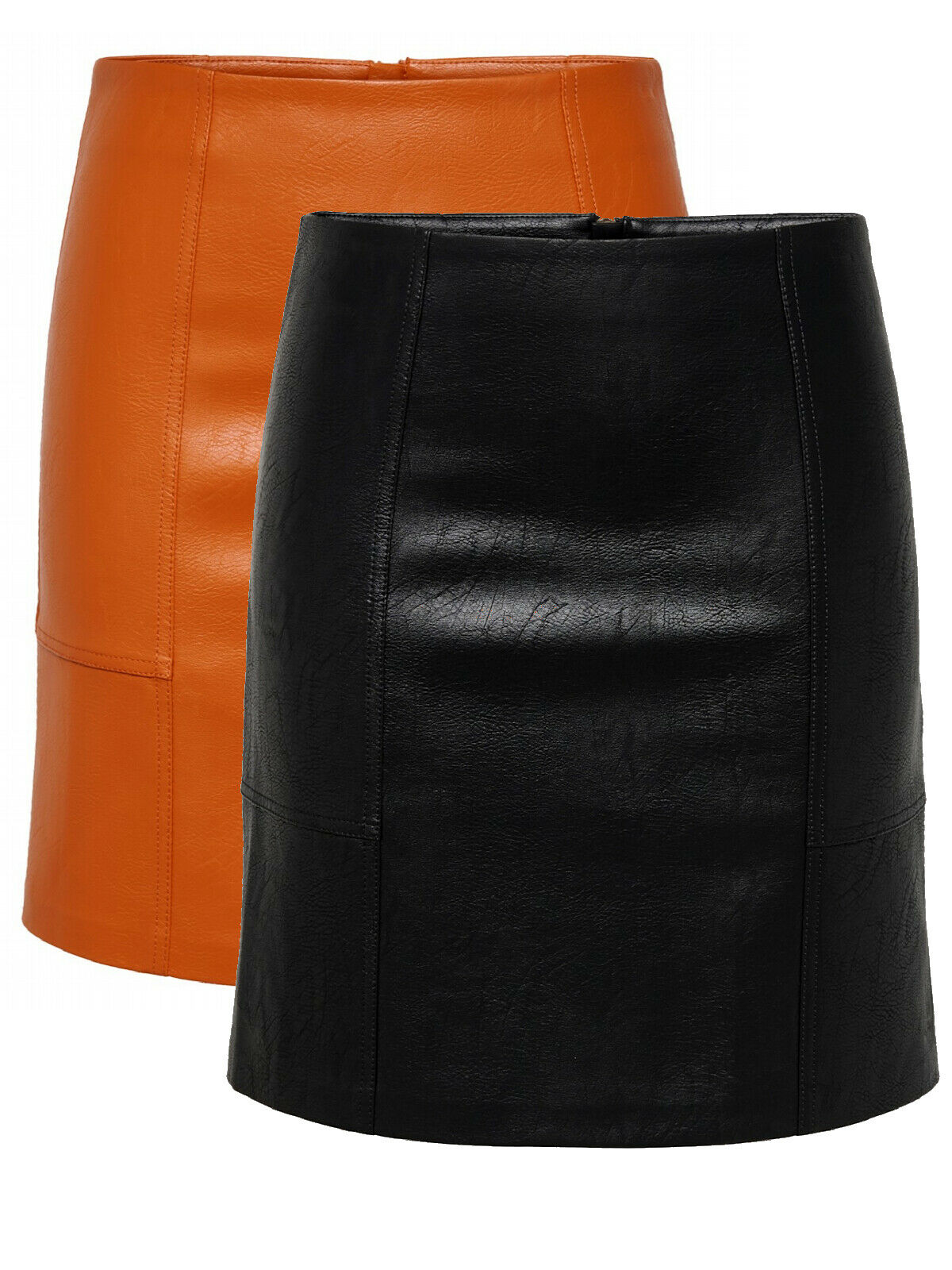 Only Damen Rock in Kunstleder OnlSky Faux Leather Skirt Mini Kurz sexy elegant