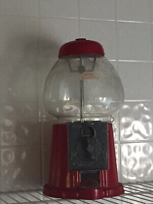 Gumball Machine With Stand Vintage Bubble Gum Globe Glass Candy Bank Coins