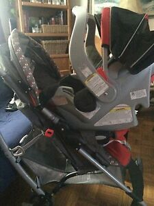 Graco car seat base and stroller