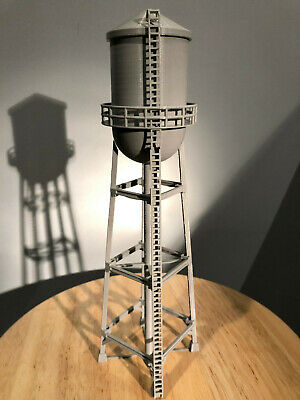 HO-Scale Water Tower. 3D printed kit(Gray) High detail 12in Version Hobby train - Model Trains Hobby