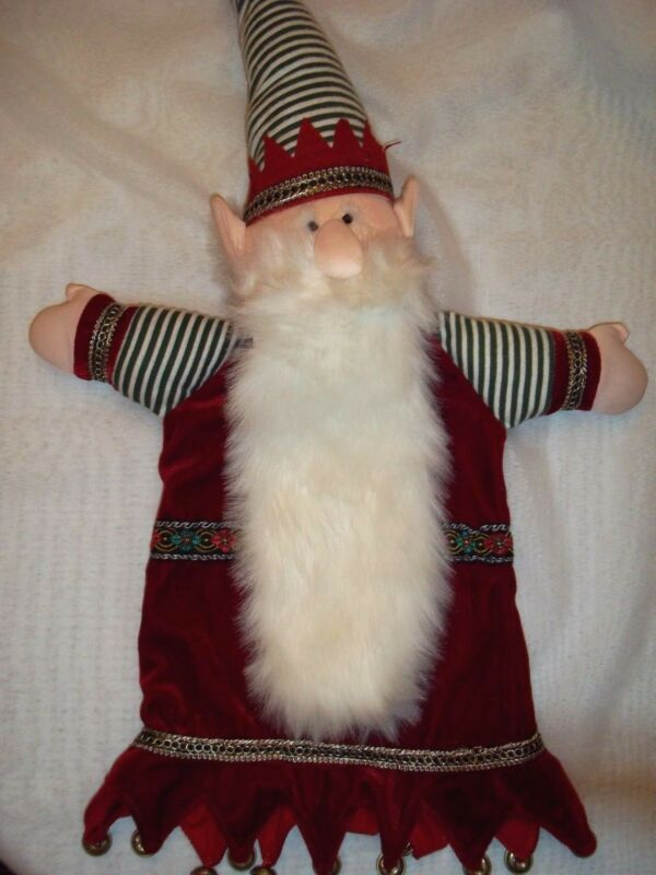 "Handmade ELF Christmas Tree Topper or Table Decoration 25"" long"