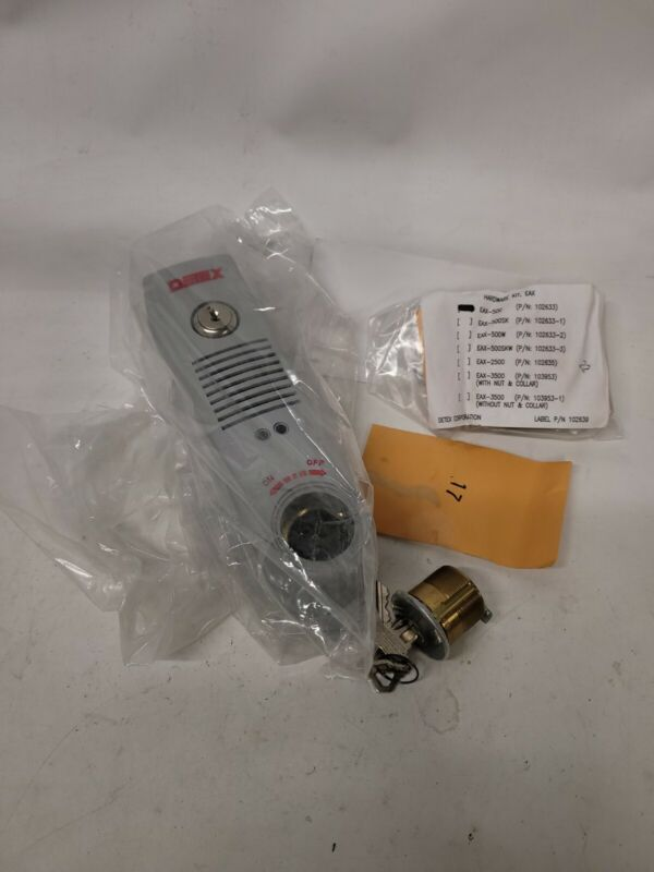 Detex Eax-500 Gray W-Cyl Exit Door Alarm,9V Battery,Ul Listed