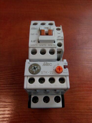 Original LS GMC-18 Contactor 7.5kW 18A Coil AC230V + Overload Relay GTK-22(4-6)A