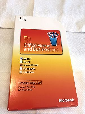 Microsoft  Office Home And Business 2010   Genuine Retail Pkc