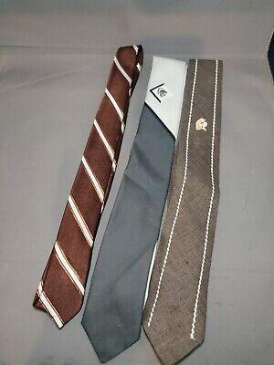 1950s Men's Ties, Bow Ties – Vintage, Skinny, Knit 3 Men's Ties Skinny Slim 1950s Vintage Tie Lot $24.40 AT vintagedancer.com
