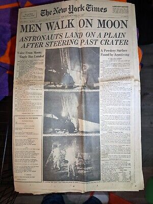 New York Times July 21, 1969 Men Walk on Moon COMPLETE