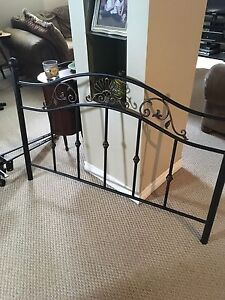 Double metal bed frame with bed rails