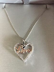 White gold with rose gold Diamond necklace
