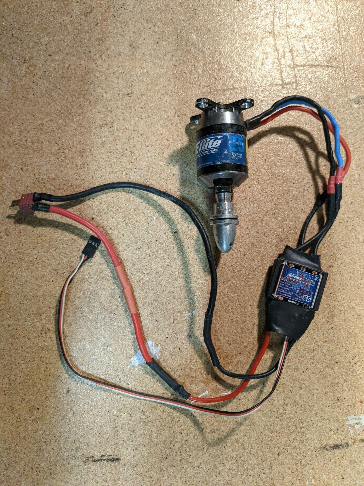 E-flite Power 25 BrushLess Outrunner Motor And Hobby King ESC - $54.09