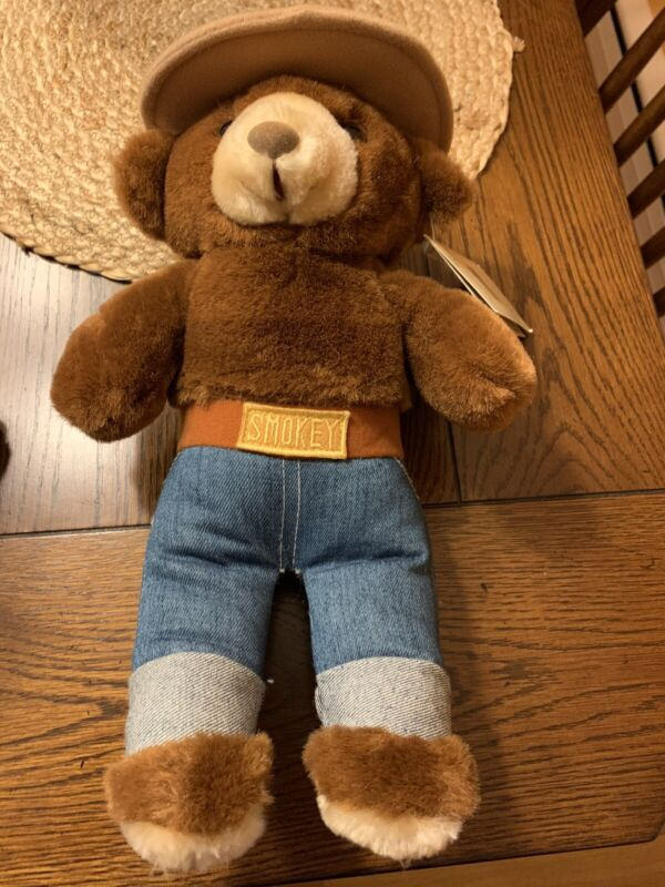 VINTAGE NWT WITH TAGS SMOKEY THE BEAR PLUSH TOY DOLL 1985