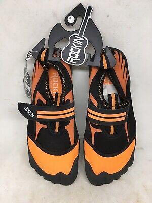 Rockin Footwear AQUA FOOT, KIDS AQUA SOCKS   Neon Orange   Water Shoes   US