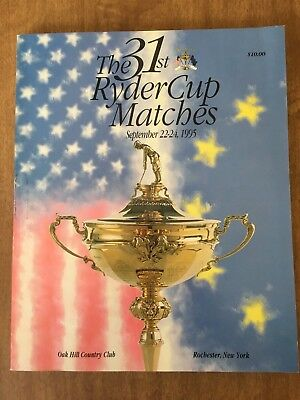 The 31st Ryder Cup Program - 1995