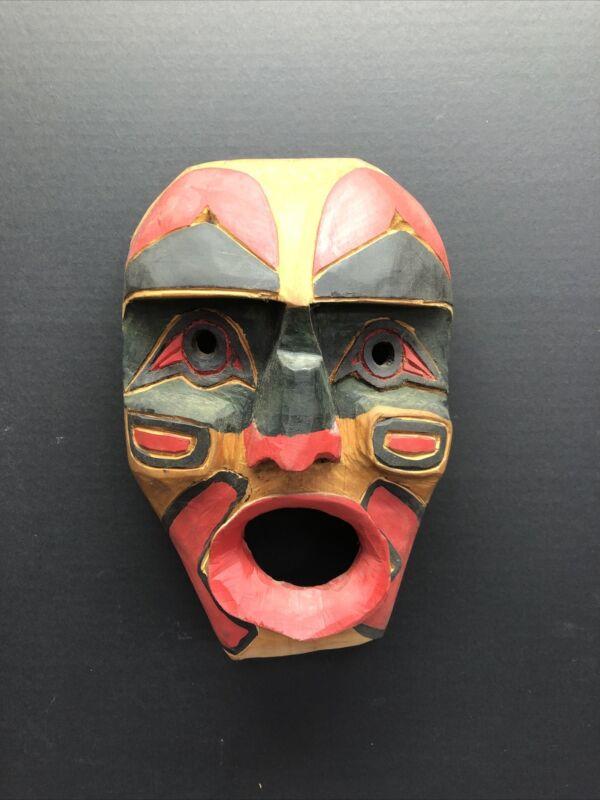 Vintage Northwest Coast Salish Jim Pahll Carved Wind Mask