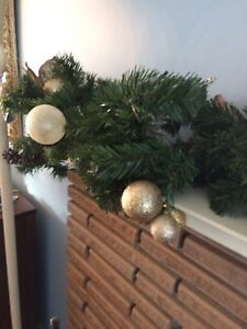 Eight Feet Long Christmas Garland with Ornaments