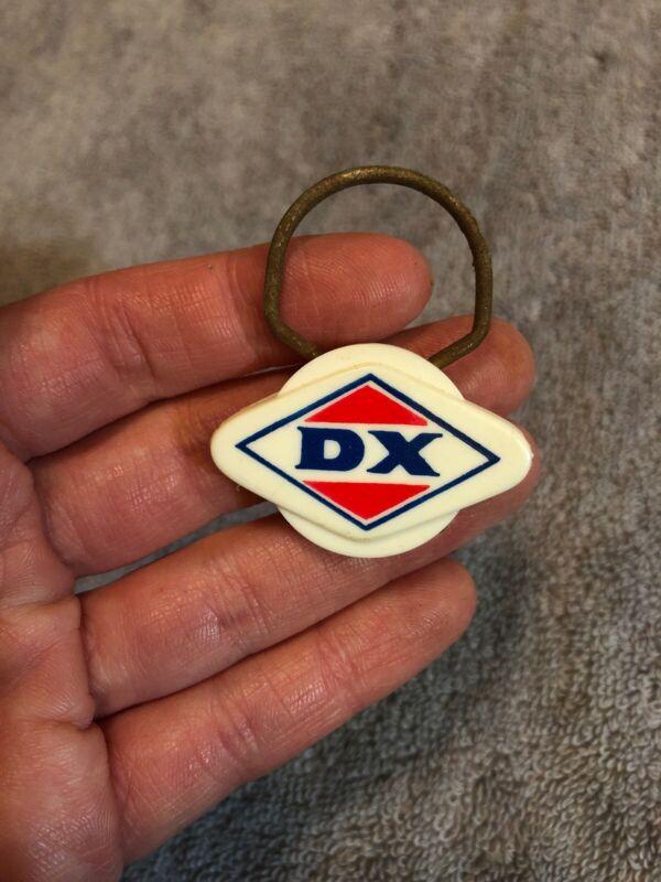 Vintage DX Gasoline Station Gas Oil Keychain Fob Rat rod Salesman Sample