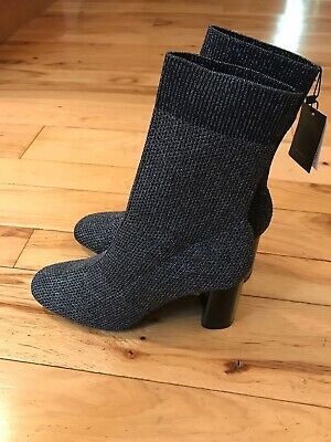 Zara Silver Boots (Zara Womens Silver Shimmer Stretch Knit Ankle Boots EU 42 US 10 )
