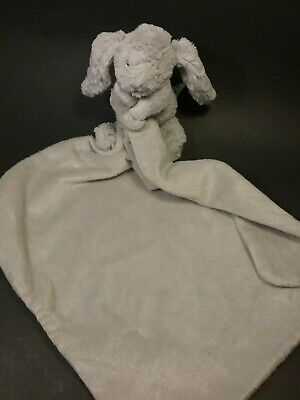 Jellycat Gray Bunny Lovey Security Blanket Plush Soft Toy