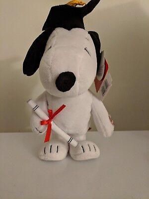"Peanuts Snoopy  Graduation Walking Musical Plush 11"" with Diploma and Cap NEW!"