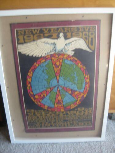 Jefferson Airplane 1967 New Years Eve Winterland Concert Poster 1967-BG-100 1st