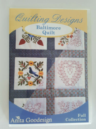 """Anita Goodesign """"Baltimiore Quilts"""" Machine Embroidery Designs on CD"""