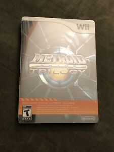 Metroid Prime Trilogy Metal Case Collectors Edition - Wii - $75