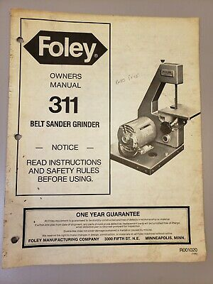 Foley Belsaw Sharp Master Model 375 Owners Manual  #1767