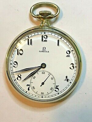 VINTAGE OMEGA POCKET WATCH 15 JEWEL PENDANT WIND & SET 14s