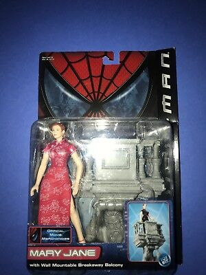 Toy Biz 2001 Spider-Man Movie Mary Jane w/Breakaway Balcony MOC! Marvel Legends