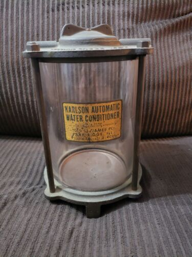 Vtg Industrial Steampunk Brass Water Meter Automatic Conditioner Fish Tank Lamp