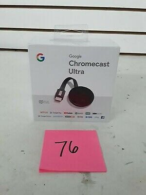 Google Chromecast Ultra 4K Media Streamer - Black (Shelf 76)(J)