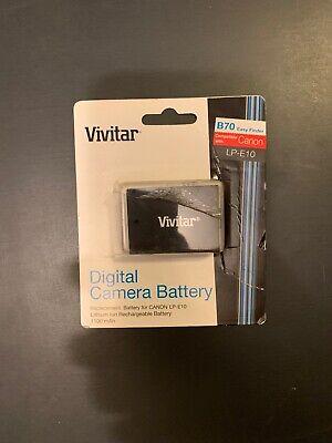 VIVITAR LP-E10 Digital Camera Rechargeable Lithium Battery Compatible With Canon E10 Digital Camera Battery