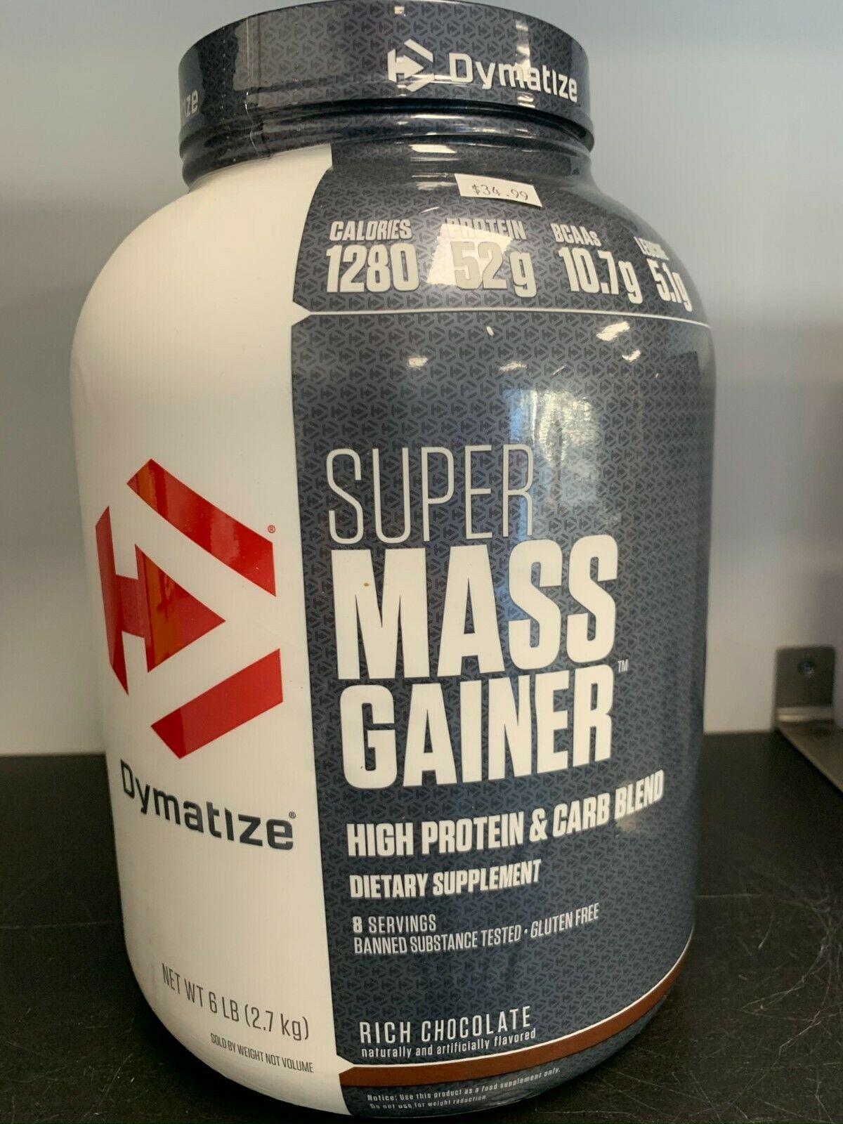 Dymatize Super Mass Gainer 6lbs Chocolate Fast Free Shipping