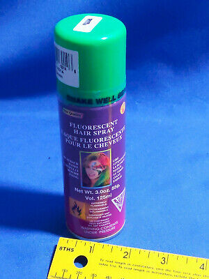 Green NOS Costume Halloween Hair Spray Star Quality VTG Temporary Fluorescent