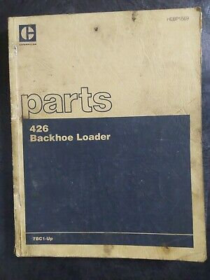 Cat Caterpillar 426 Backhoe Loader Parts Book