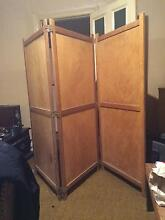 Vintage Tri Folding Hinged Screen Solid Wooden Norwood Norwood Area Preview