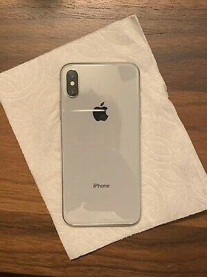 Apple iPhone X - 64GB - Silver (Unlocked) A1865 (CDMA + GSM)
