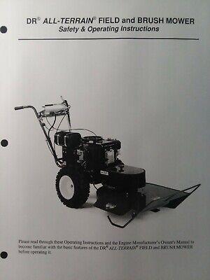 Dr All-terrain Field Brush Mower Walk-behind Tractor Owner Parts Manual Kawasa