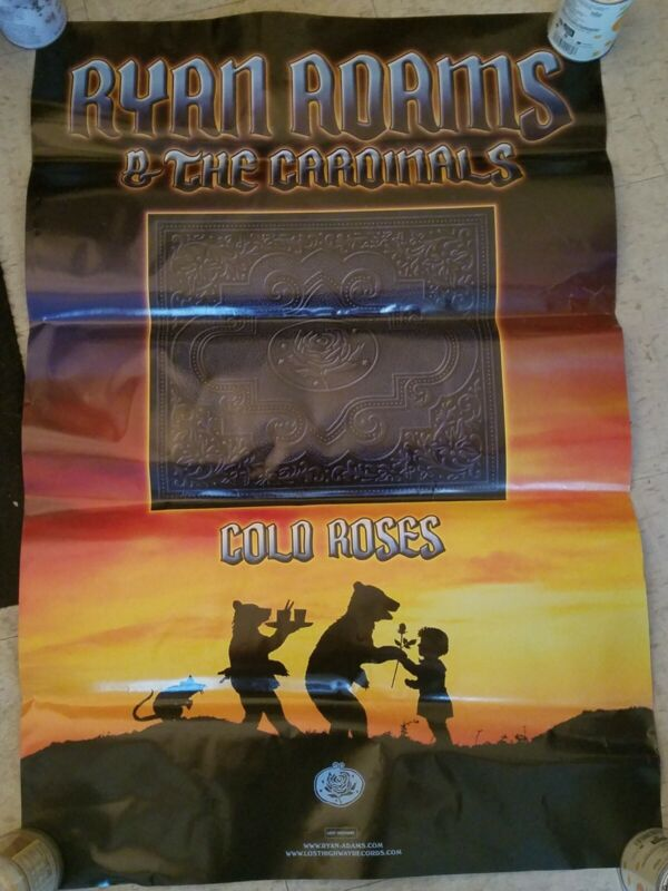 """Ryan Adams & The Cardinals """"cold roses"""" Promo only poster 24""""x35"""" official HUGE"""