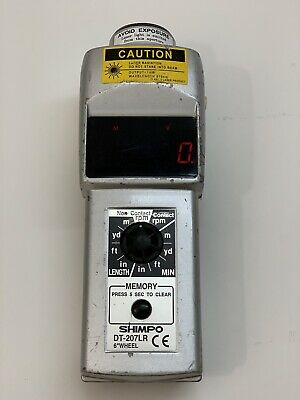 Shimpo Dt-207lr Digital Handheld Tachometer Led 6in Wheel