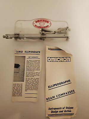 Omicron Ellipsograph with Papers Engineering Drafting Tools AV023