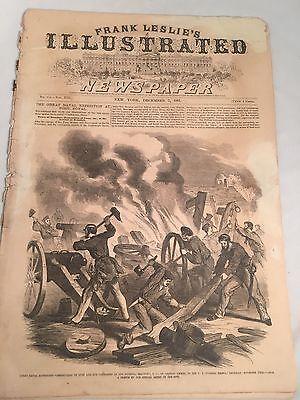 Civil War Era Frank Leslie's Illustrated Newspaper Illustrated Dec 7, 1861