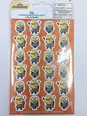Despicable Me Party Supplies (96 Despicable Me Minions stickers 4 sheets of 24 teacher supply party)