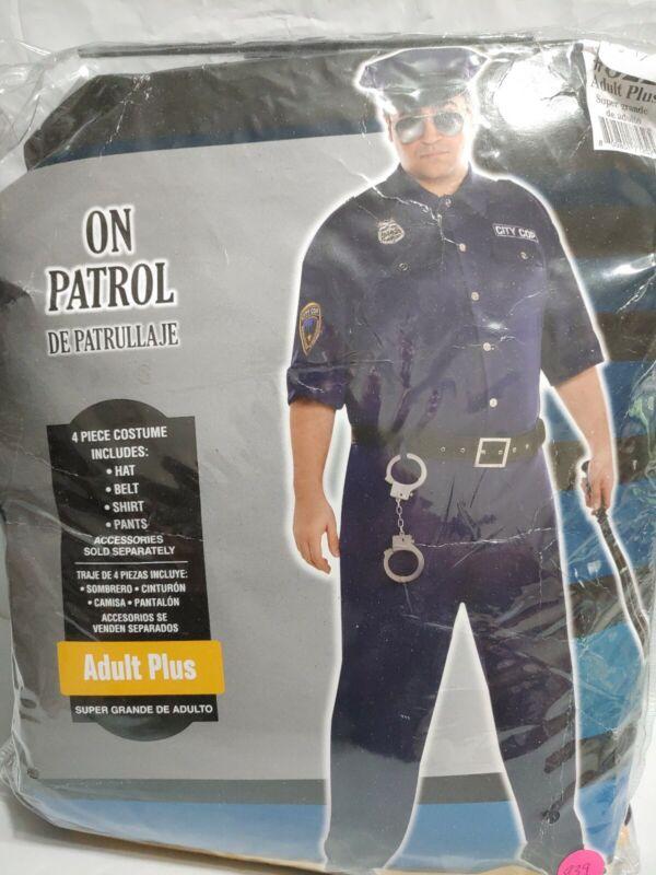 Adult On Patrol Police Costume Adult Plus #939 #1068 #1111