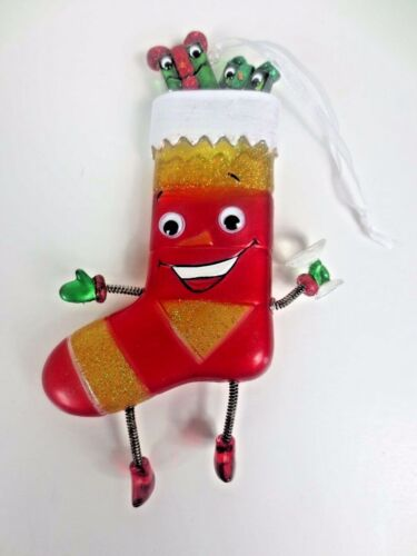 Dept 56 Christmas Stocking Face Ornament Springy Hands & Feet
