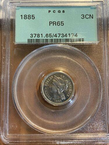 1885 3-cent Nickel Proof PCGS OGH PR65