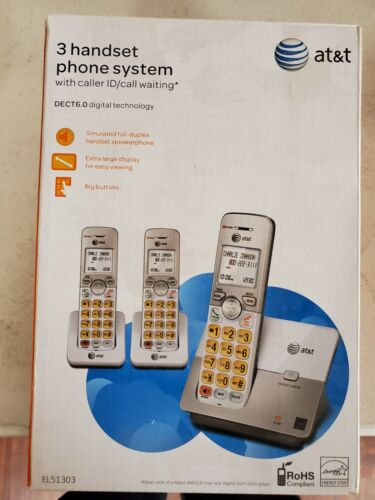 At&t cordless 3 handset phone system