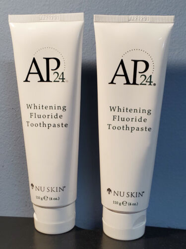 Lot of 2 Nuskin Nu Skin AP24 Whitening Fluoride Toothpaste Tubes - 4oz each New!